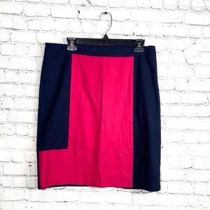 Nic+Zoe Color Block Pencil Skirt: Size 12